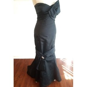 LAST CHANCE Couture Black Gown Silk
